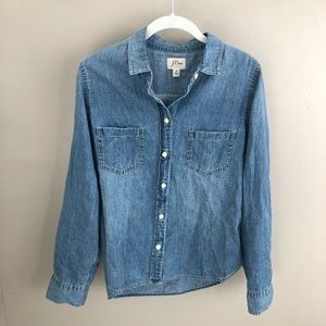 J CREW- DENIM BUTTON DOWN- NWT